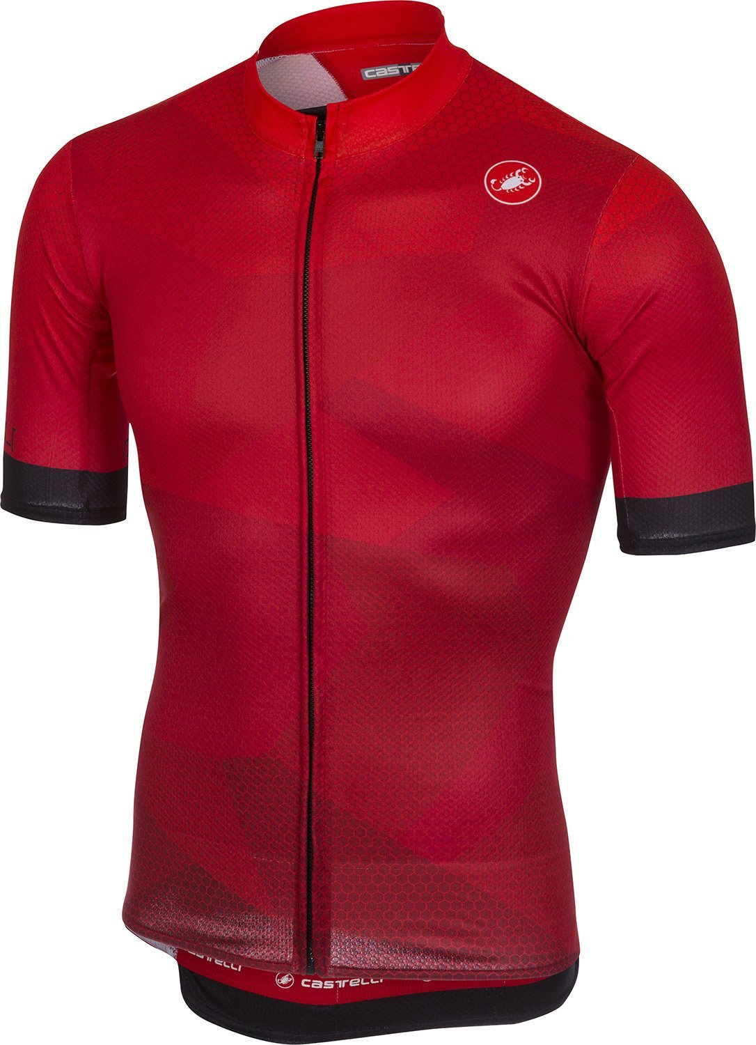 Castelli Flusso Mens Short Sleeve Cycling Jersey - Red £80.00 bf57695e2