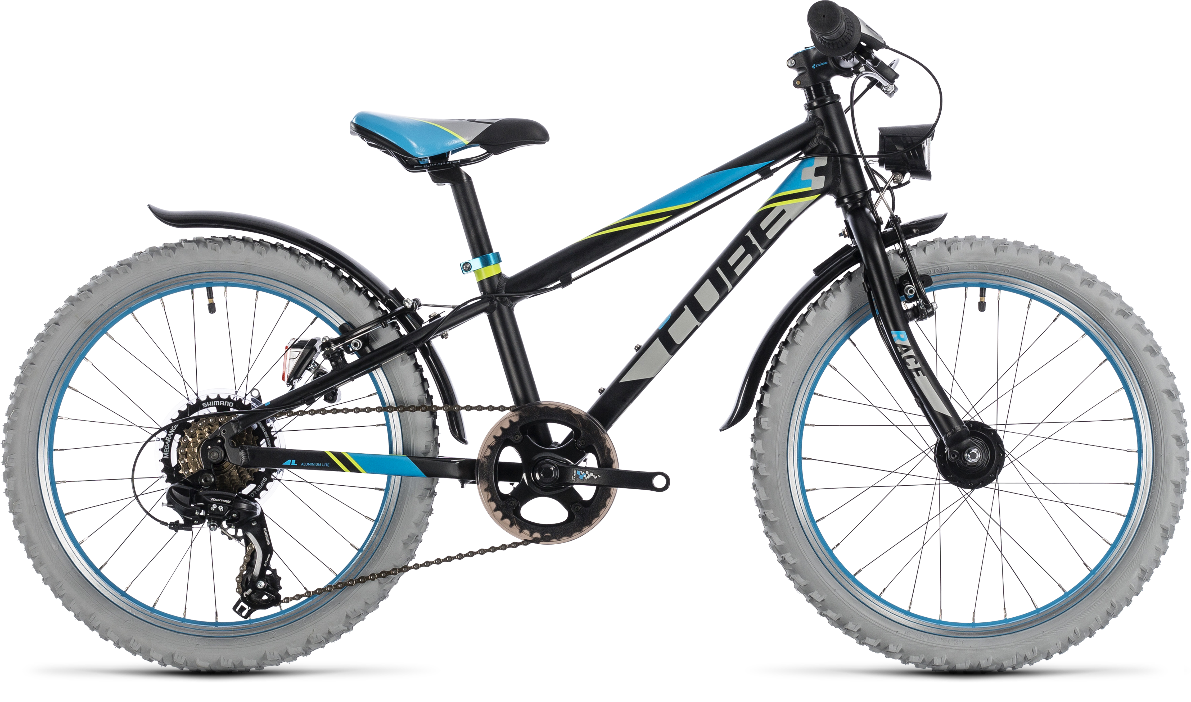 654461fd1ca 2018 Cube Kid 200 Allroad Mountain Bike Black Blue £324.00