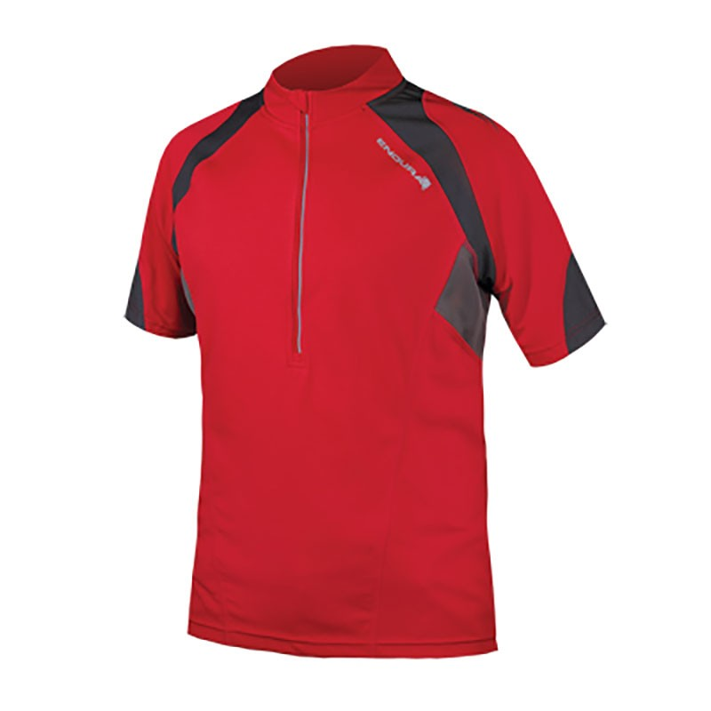 Endura Hummvee II Mens Short Sleeve Jersey - Red £34.19 94574decc