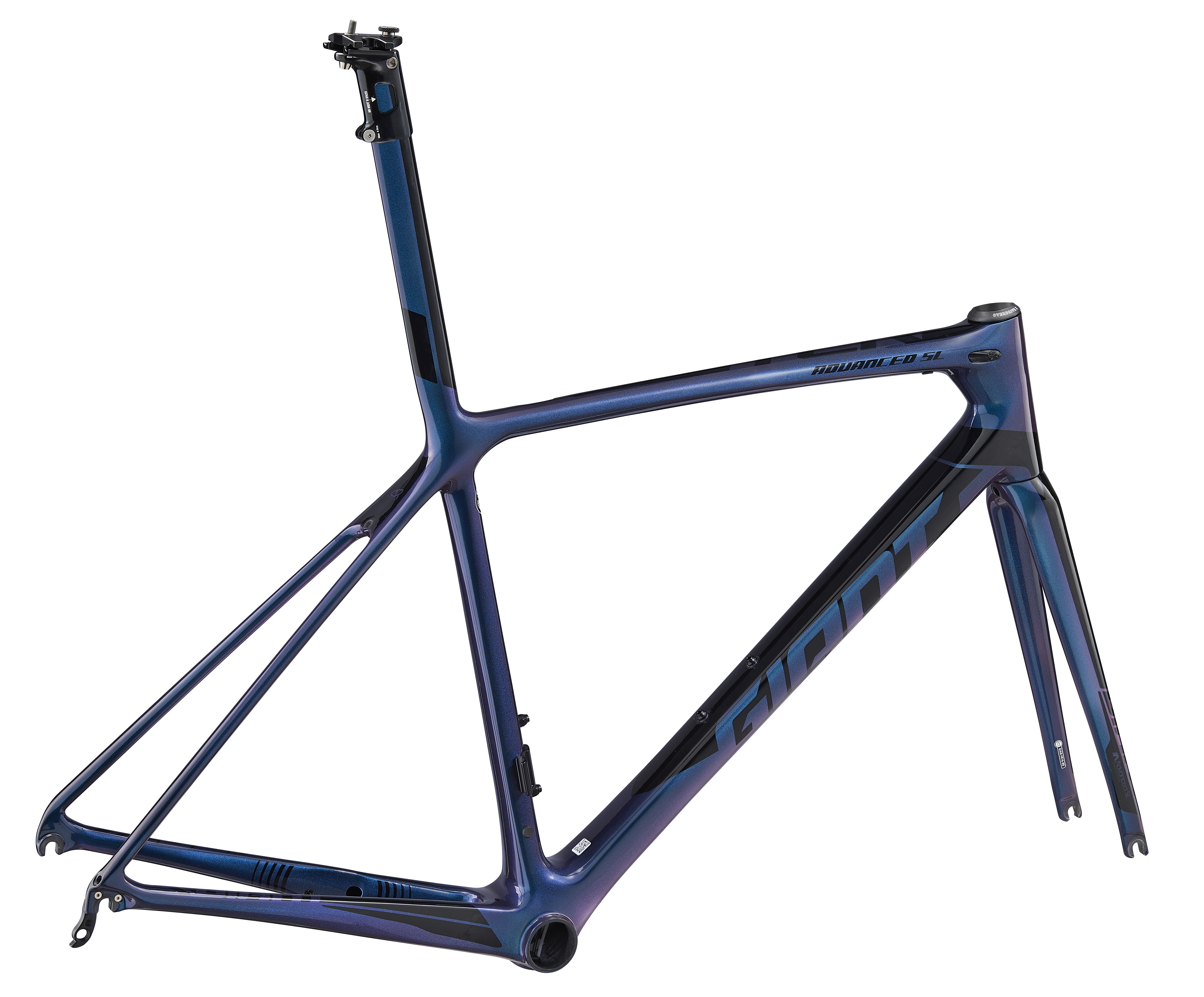 964cc42aebe 2019 Giant TCR Advanced SL Frameset - Gloss Chameleon Blue/Gloss Black