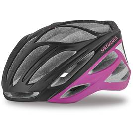Specialized Aspire Womens Road Helmet - Matte Black Acid Pink Dot 8ed58967ec437